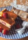 いちごのベイクドチーズケーキ