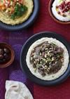 中東料理☆ラム肉のスパイス焼きフムス