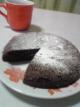 ほろ苦★炊飯器でビターチョコケーキ