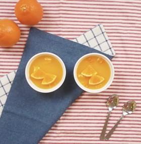 果肉入りオレンジゼリー