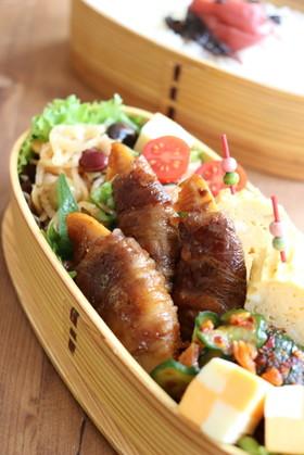 お弁当に☺️筍の牛肉巻き照り煮