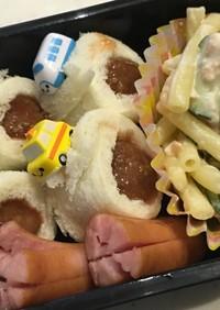 イシイのミートボールで1口サンドイッチ♡