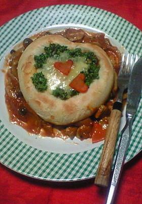 パンと一緒に★ハートのスープ