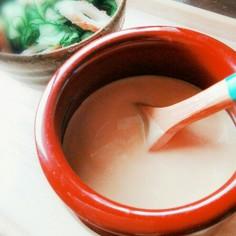 マヨでまろやか。酢味噌ドレッシング。