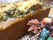 練乳かぼちゃのパウンドケーキの写真
