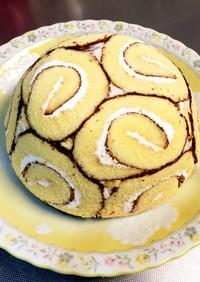 スイスロールで簡単ドームケーキ