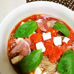 モッツァレラトマトバジルdeふるる冷麺♪
