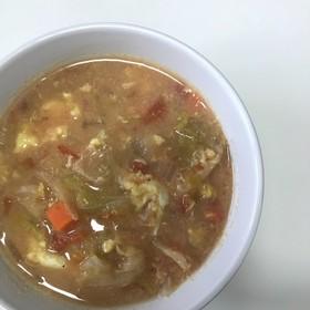 簡単!トマトベースのミルク味噌スープ