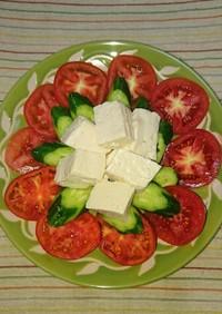 切っただけ!トマトと豆腐のサラダ
