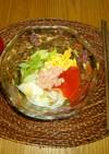 野菜ジュースX蕎麦出汁で洋風ジュレ素麺♡