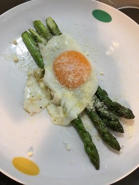 卵とアスパラのソテー