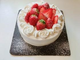基本のスポンジでショートケーキ