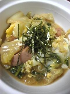 簡単♪白菜&ウィンナーの卵とじ鍋^−^♪