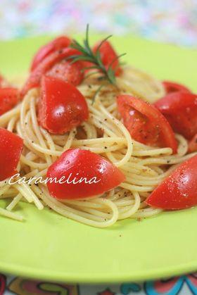 美味しいフレッシュトマトのマリネパスタ