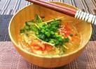 簡単♡豆苗とキムチの味噌汁♡