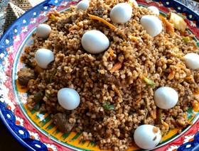 ウズベキスタン♡そば米の牛肉ご飯プロフ