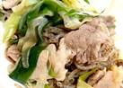*ネギと豚肉と糸コン煮*