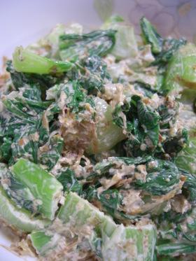 青梗菜のマヨ胡麻和え