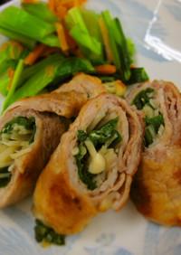 減塩料理☆豚肉の野菜肉巻き