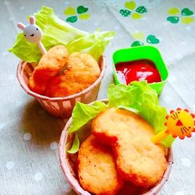 鶏ひき肉✻じゃが芋✻おから〜ナゲット風