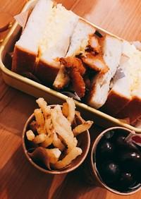 卵サンドと海老フライサンド