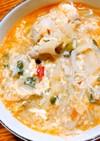 余った春巻きの具で簡単ピリ辛中華スープ
