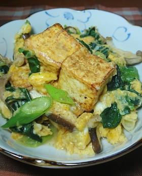 九条ねぎと豆腐の中華風卵とじ
