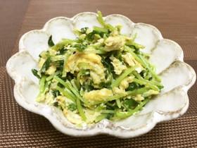 ベジ♪豆苗と卵のマヨ炒め