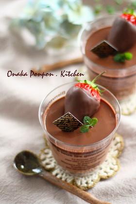 なめらかチョコクリーム♡プリン