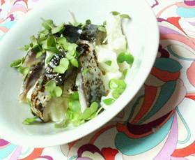 ✿すし酢で❀しめ鯖と大和芋の✿爽やか和え