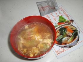 包丁なしの、スピードかに玉スープ