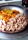鯖缶とオクラのココナッツカレー