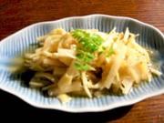 姫皮と大根の胡麻酢和えの写真