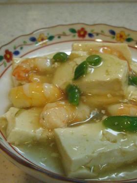 お豆腐とえびの中華あん