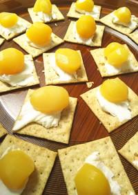 簡単おやつ!栗ームチーズonクラッカー