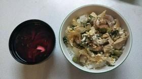 にら親子丼(血管ダイエット食1223)