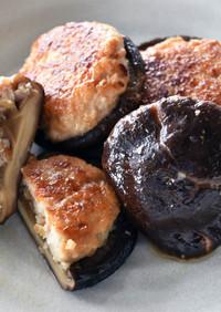 椎茸含め煮の鶏つくね詰め