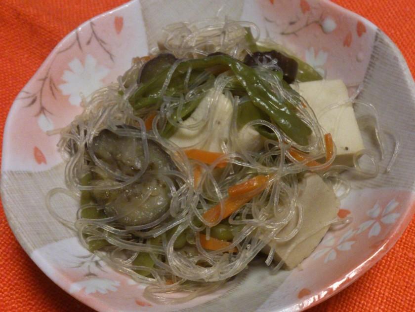 はるさめと高野豆腐の炒め煮