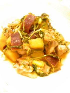 豚と水菜のさつま芋煮