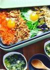 筍のピリ辛そぼろで簡単!野菜盛りビビンバ