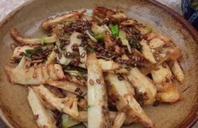 揚げ筍のカレー粉炒め