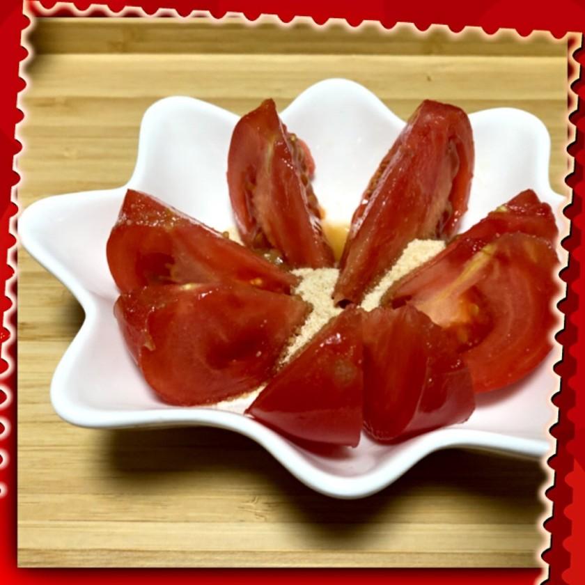 トマトにお砂糖かけて♪