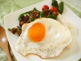 モンスーンカフェ風♪ガパオ炒めご飯