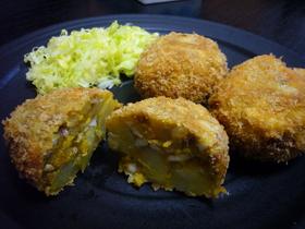 ポテトと卵のカレーコロッケ