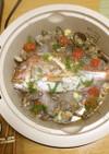 春の小寒い日は、鍋をアクアパッツァ風に