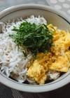 簡単☆甘酢生姜で万能寿司めし①卵しらす丼