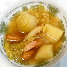 春野菜とウインナーのスープ