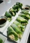 プチプチ海藻麺野菜たっぷりヘルシー生春巻