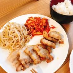サムギョプサル☆もやしナムル☆白菜キムチ