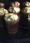 コストコパンケーキMIXで抹茶マフィン